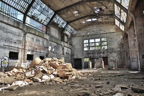 Papiers peints Les vieux bâtiments abandonnés abandoned factory, industrial background