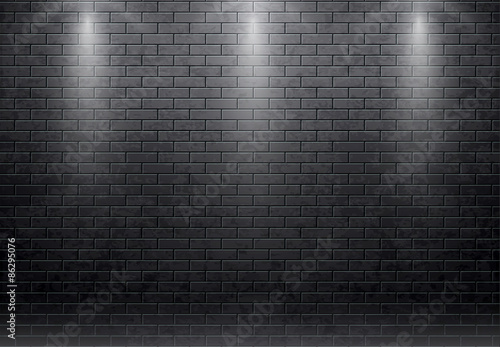 vector illustration of brick wall black