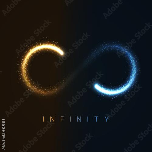 Fotografia  vector illustration of gold infinity