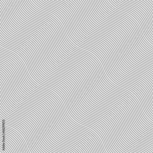 Monochrome pattern with light gray diagonal wavy guilloche textu Tapéta, Fotótapéta