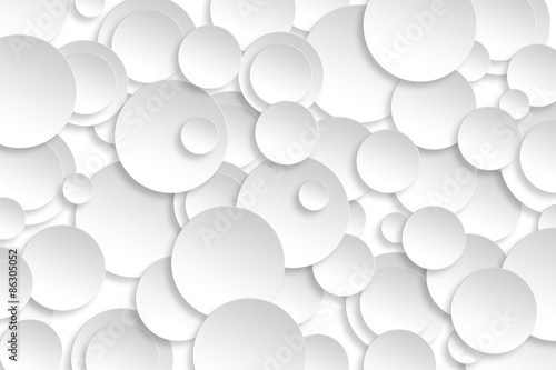 Fotografie, Obraz  Abstract paper circle design silver background texture.