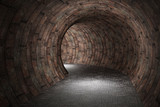 Fototapeta Do przedpokoju - 3d tunnel