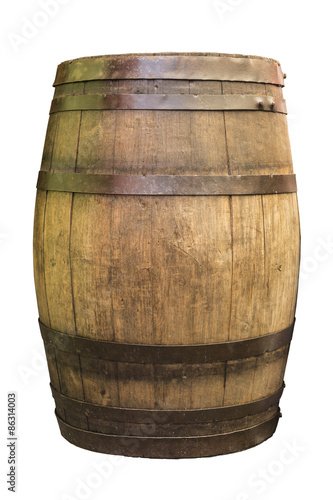 Wooden Barrel. Isolated.
