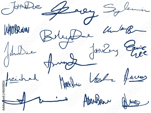 Photo Handwritten signatures