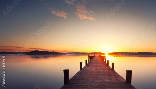 Fotografia  Ruhe und Stille am Holzsteg
