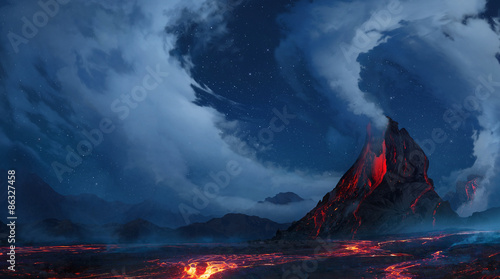 Canvas Print volcano