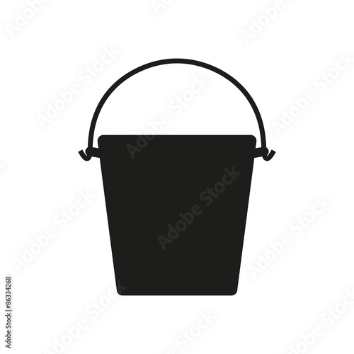 The bucket icon. Pail and bucketful symbol. Flat Wall mural