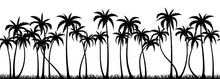 Palm Trees Silhouette Seamless...