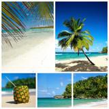Caribbean beach collage