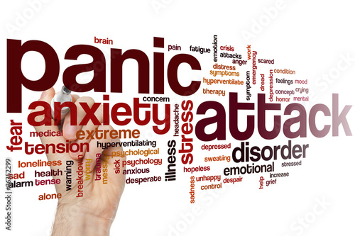 Fotografía  Panic attack word cloud
