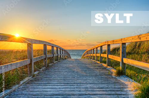 Poster Strand Sylt