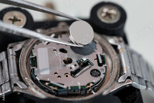 Tweezers With Battery And Wrist Watch