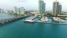 Aerial Video Of The Miami Beac...