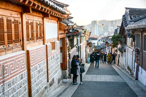 Papiers peints Seoul Bukchon Hanok Village in Seoul, South Korea