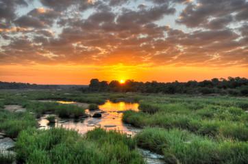 Panel Szklany Eko Sunrise at Kruger National Park