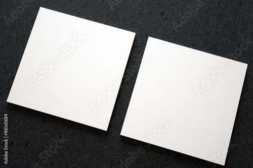 Fotografía  3D square business cards top