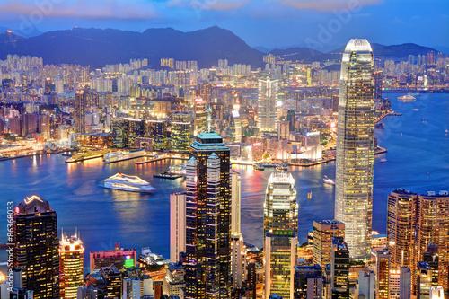香港の夜景 Canvas Print