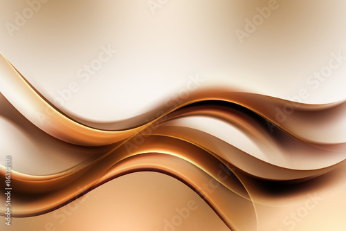 Deurstickers Fractal waves Dark Gold Amazing Abstract Waves Background