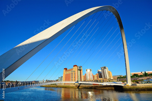 In de dag Brug Bridge on Tyne River, Newcastle, England