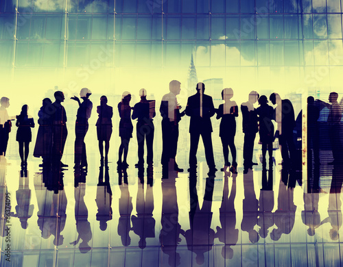 Staande foto Zeilen Silhouette Business People Corporate Connection Discussion Meeti