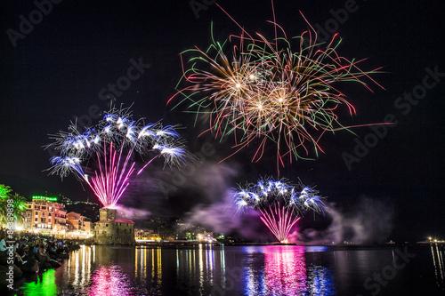 Fotografie, Obraz  Fireworks in Rapallo