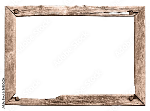 alter Holzrahmen, rötlich