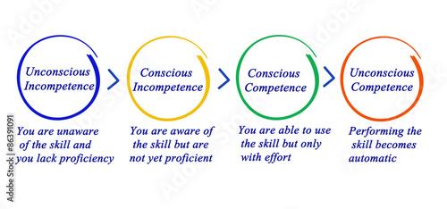 Obraz Competence and incompetence - fototapety do salonu