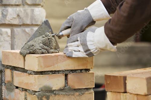 Fotografía  Bricklaying brick wall