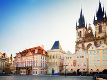 Old Town Square With  City Hall Of Prague