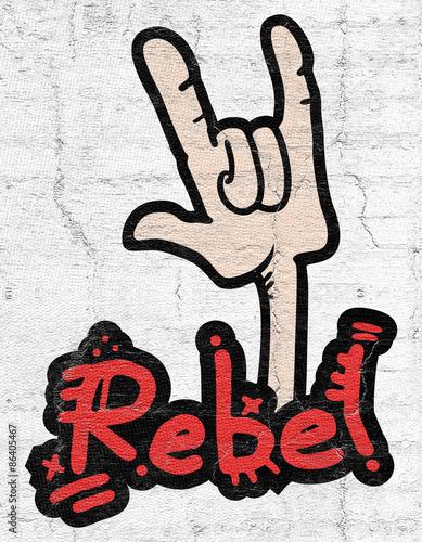 Fotografía Rebel gesture