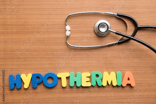 Vászonkép Hypothermia
