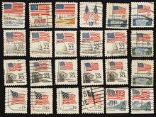 Postage Stamps With The USA St...