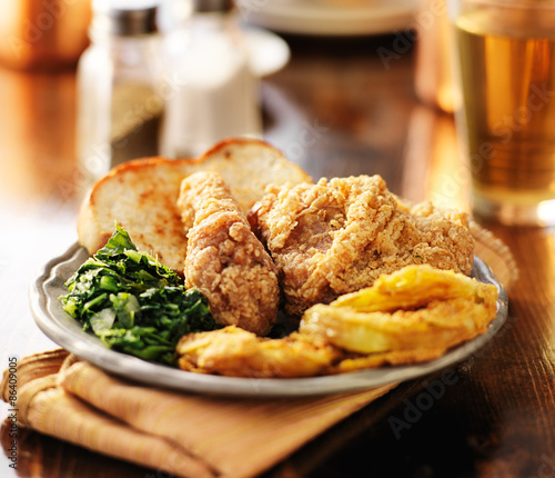Southern soul food with fried chicken and collard greens buy this southern soul food with fried chicken and collard greens forumfinder Image collections