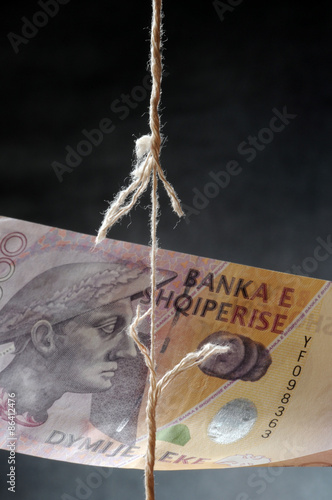 Fotografia, Obraz  Тиранская фондовая биржа Effectenbeurs van Tirana Bursa e Tiranës Tirana Stock E