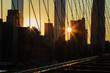 New York City at sunset.