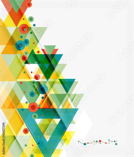 Photo Stands Clean colorful unusual geometric pattern design