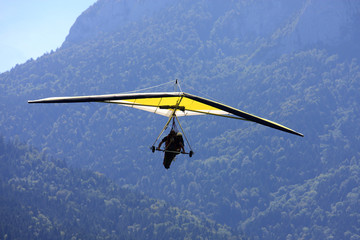 Panel Szklany Lotnia Hang Glider in the Alps