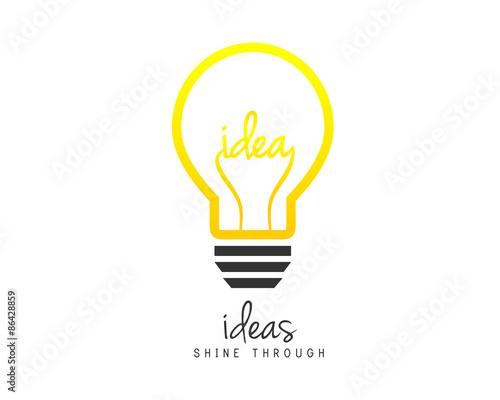 Obraz Bright lightbulb as idea symbol - fototapety do salonu