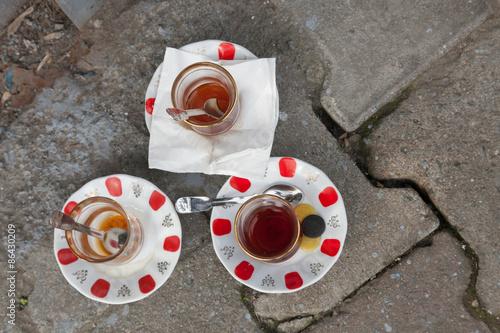 traditional Turkish tea glasses