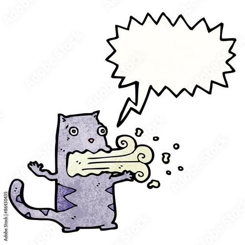 Fotografia, Obraz  cartoon cat with bad breath