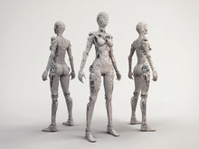 Trio Of The Robot Girls