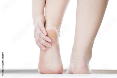 Massage of female foot Fototapeta