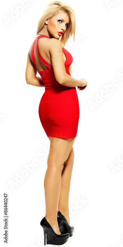 Photo  Woman In Red Dress