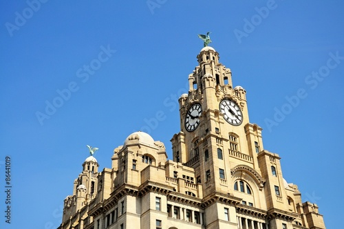 Photo  The Royal Liver building, Liverpool.