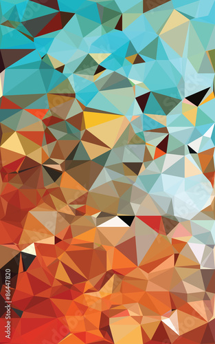 Foto op Aluminium ZigZag Colorful polygonal background