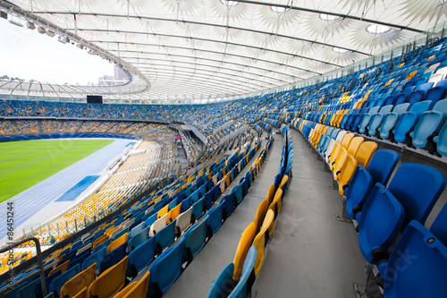 Papiers peints Stade de football Olympic Stadium in Kiev, where the european football championship in 2012 have been played