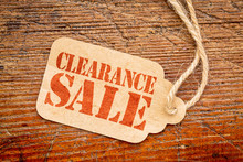 Clearance Sale Sign On A Price Tag
