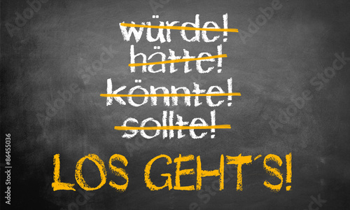 Leinwand Poster Los geht´s!