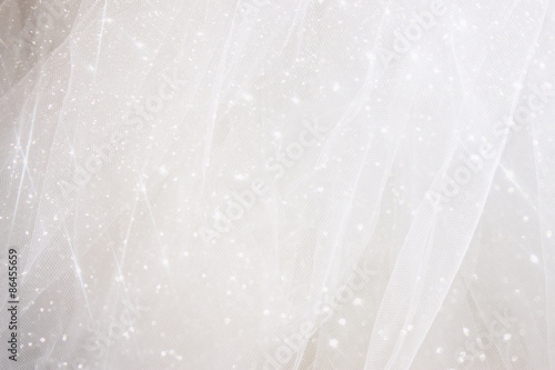 Canvas Print Vintage tulle chiffon texture background with glitter overlay