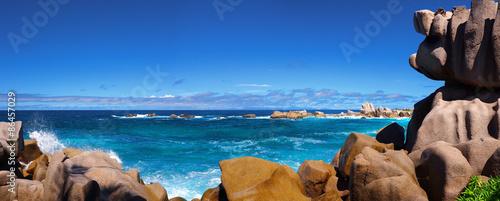 Photo sur Aluminium Ile Plage des Seychelles